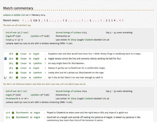 Example commentary page